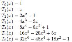 チェビシェフの多項式