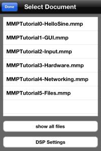 MobMuPlatのメニュー画面