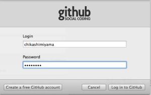 GitHubのログイン