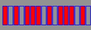 MMPエディター上のリズムパターン